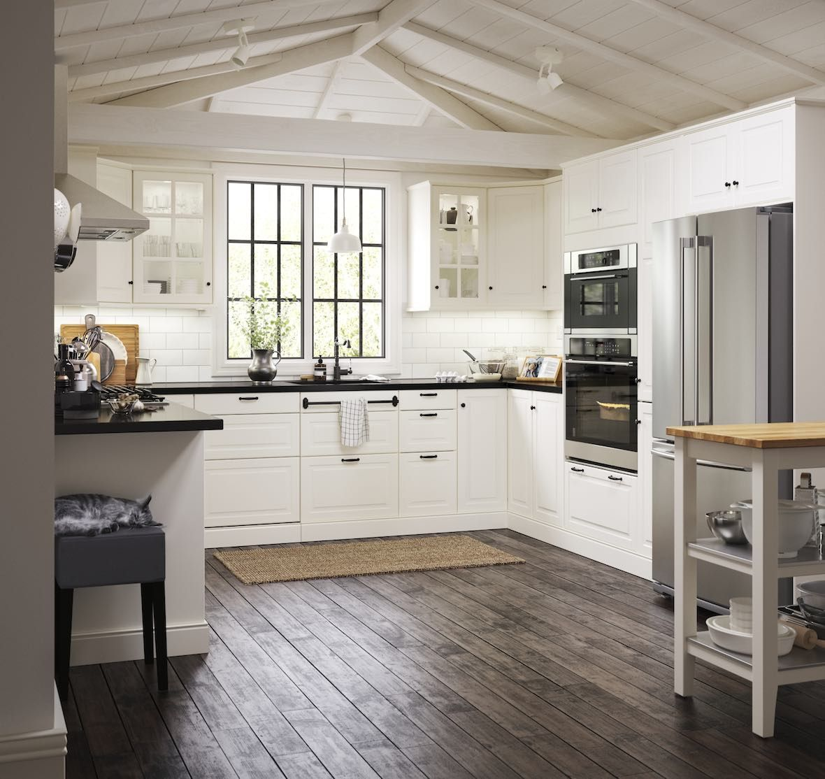 Best Image Result For Bodbyn Off White And Black Kitchen 400 x 300
