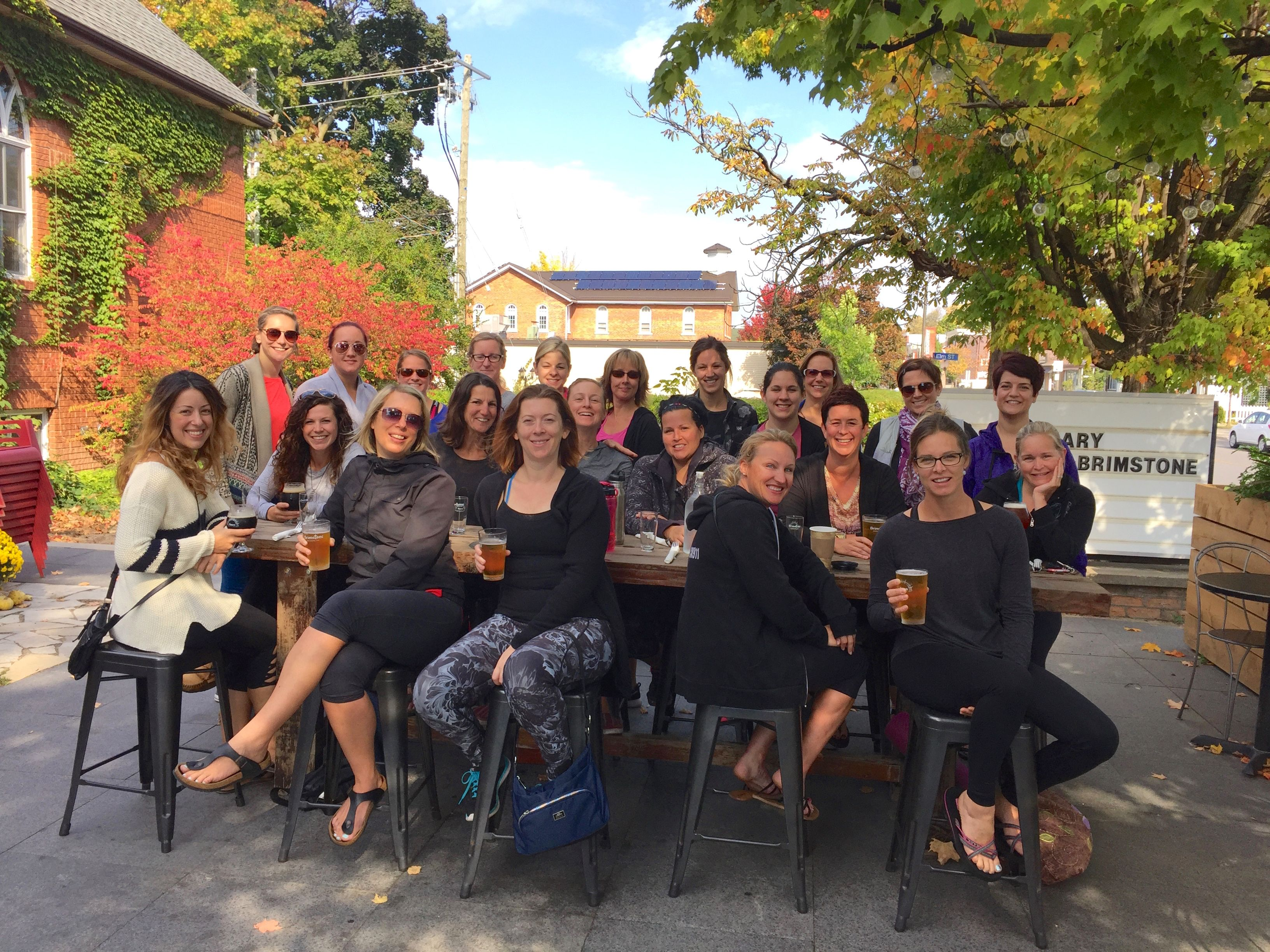Bend Brunch & Brew event at Brimstone Brewing Co - so nice to be outside in October. Such a fun day!