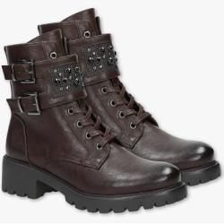 Photo of C&A Young Spirit-Boots-Lederimitat-Glanz Effekt, Braun, Größe: 40 C&A