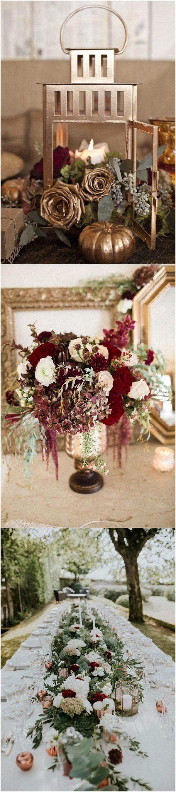 Fall wedding decor 2018  Top  Burgundy Wedding Centerpieces for Fall   Page  of