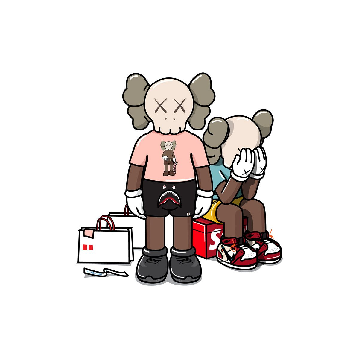 Kaws x Uniqlo for Hypebeast Illustration on Behance