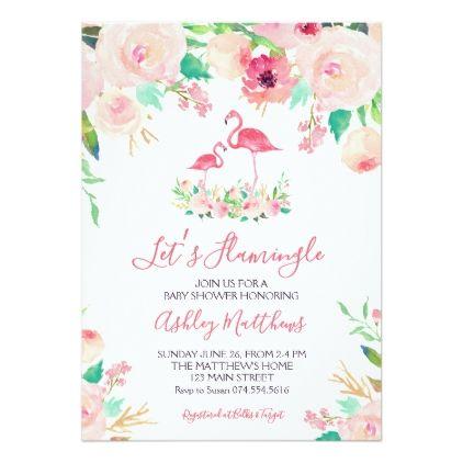 Flamingo Baby shower Invitation, Flamingo Shower Card Flamingo - baby shower invitation templates for word