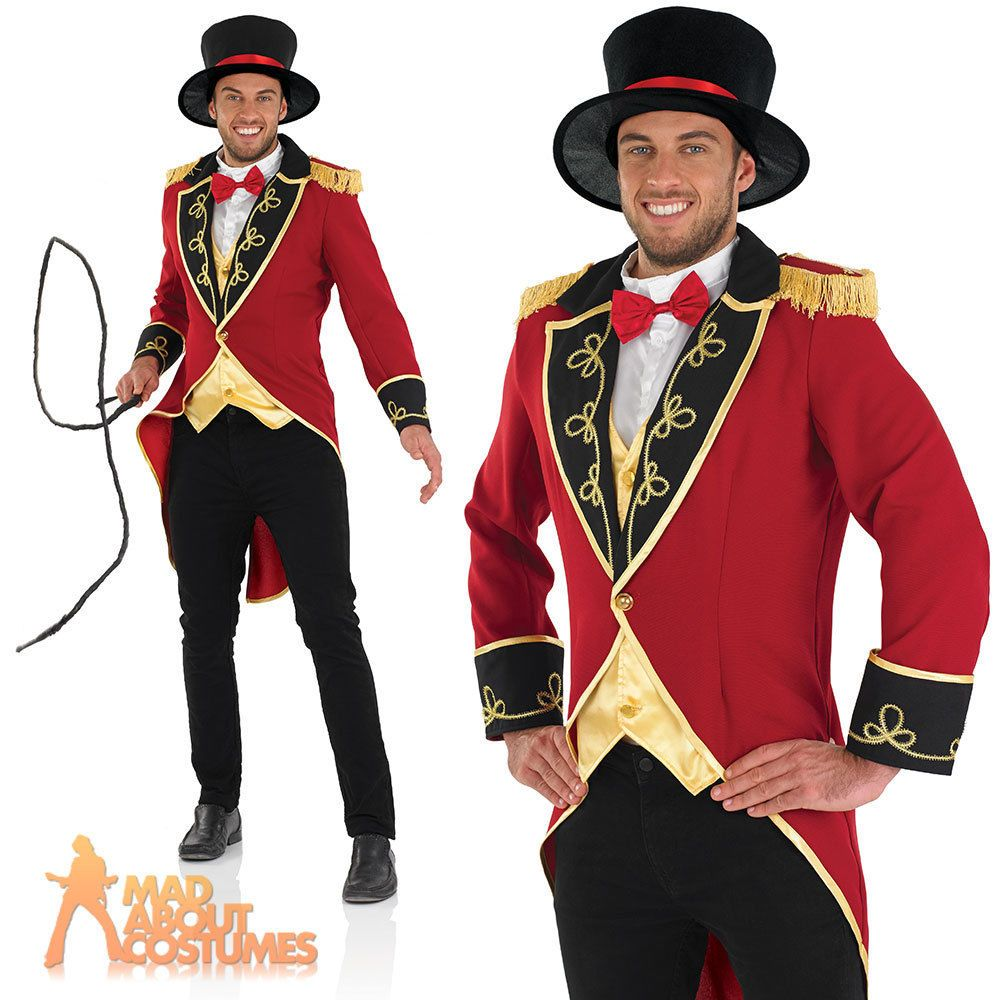 big man halloween costume ideas male ringmaster costume mens circus fancy dress lion tamer - Good Halloween Costumes For Big Guys