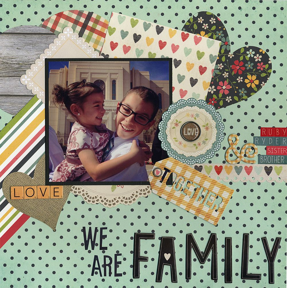 We Are Family Fun layout using the Simple