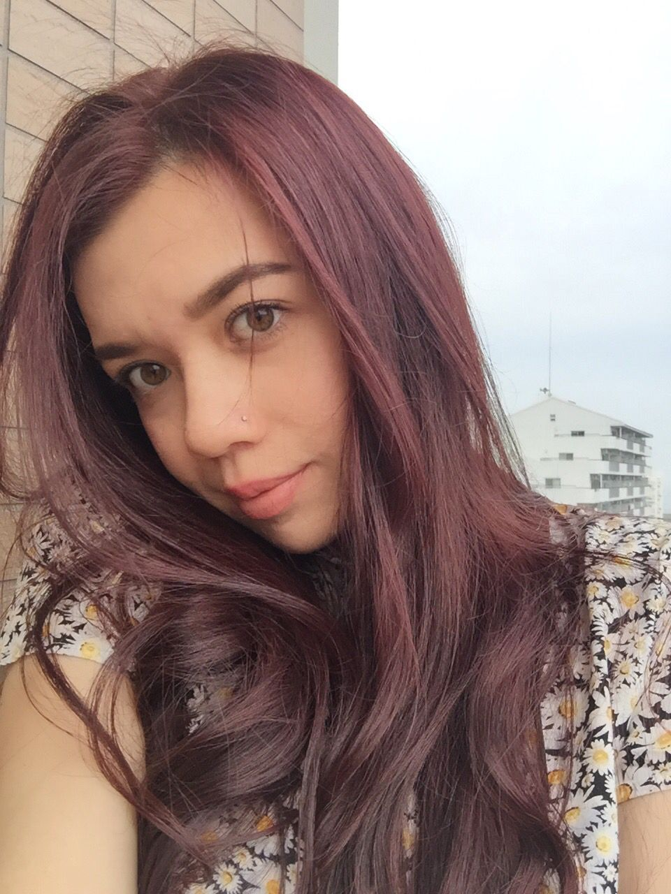 Red and pink over dark brown hair | Pink hair | Pinterest | Hair ...