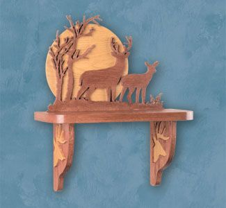 Scroll Saw Shelves - Deer Shelf Scroll Saw Pattern