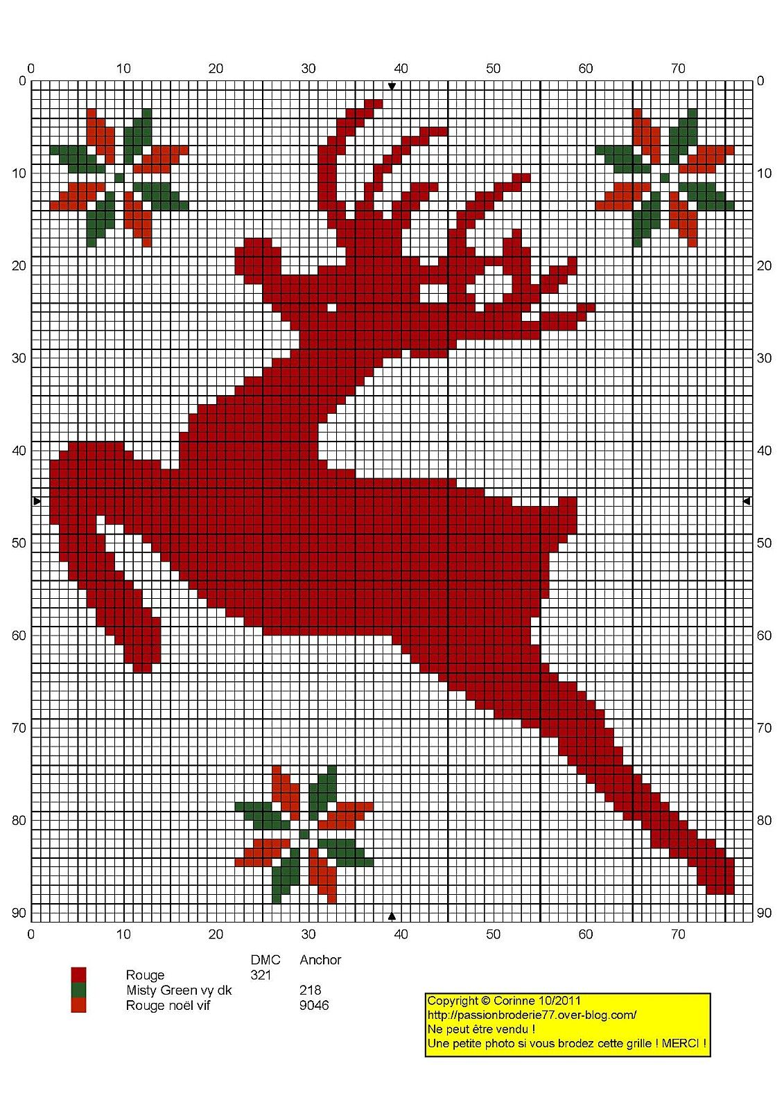 Point de croix -cross stitch ❤️✼❤️✼ Noël - Christmas Reindeer-1.jpg