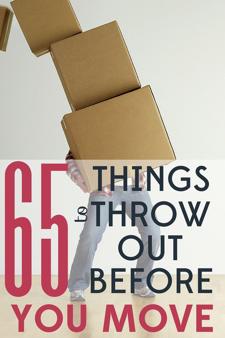Charming 65 Things To Trash Before You Move Across Country