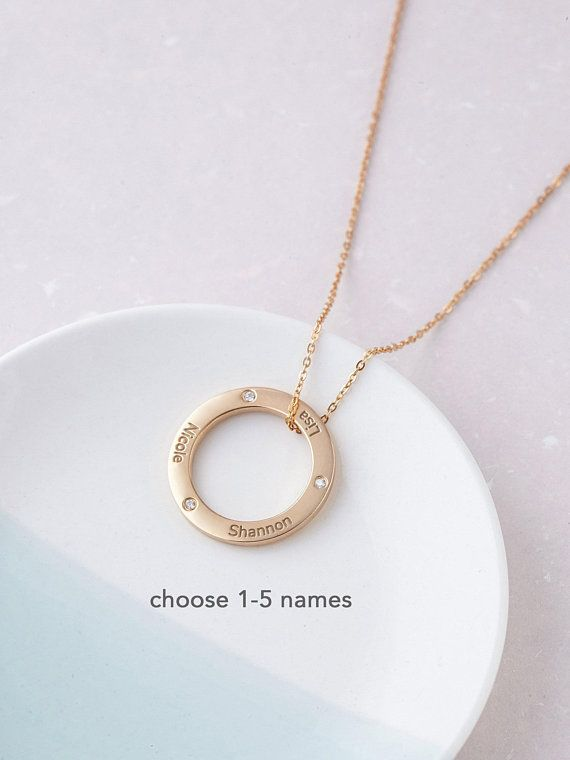 Necklace For Mom With Kids Names