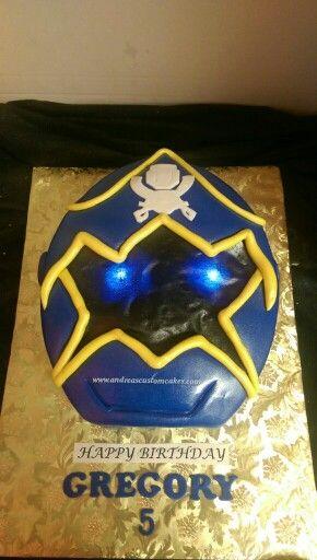 Cool Blue Power Ranger Super Megaforce Birthday Cake With Images Funny Birthday Cards Online Inifodamsfinfo