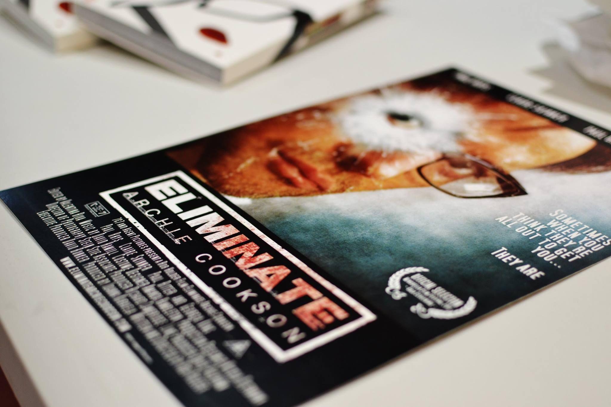Eliminate: Archie Cookson flyer / poster.