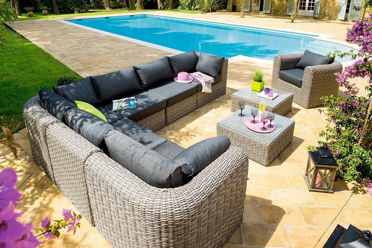 HESPERIDE - Notre lit piscine double Alfama taupe : bronzage ...