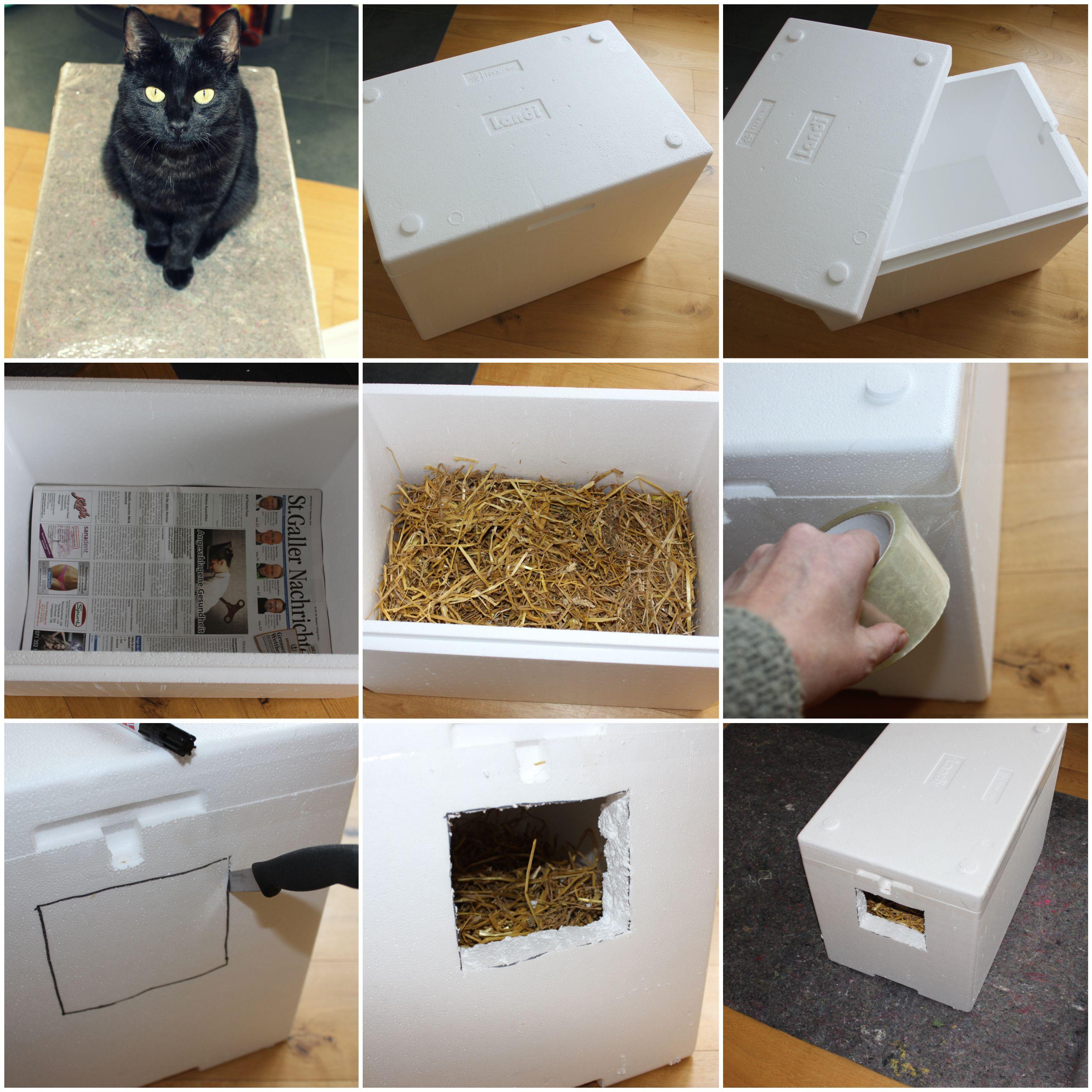 Katzen / Tier Winter Haus aus Styropor selbst bauen | Ultimative ...