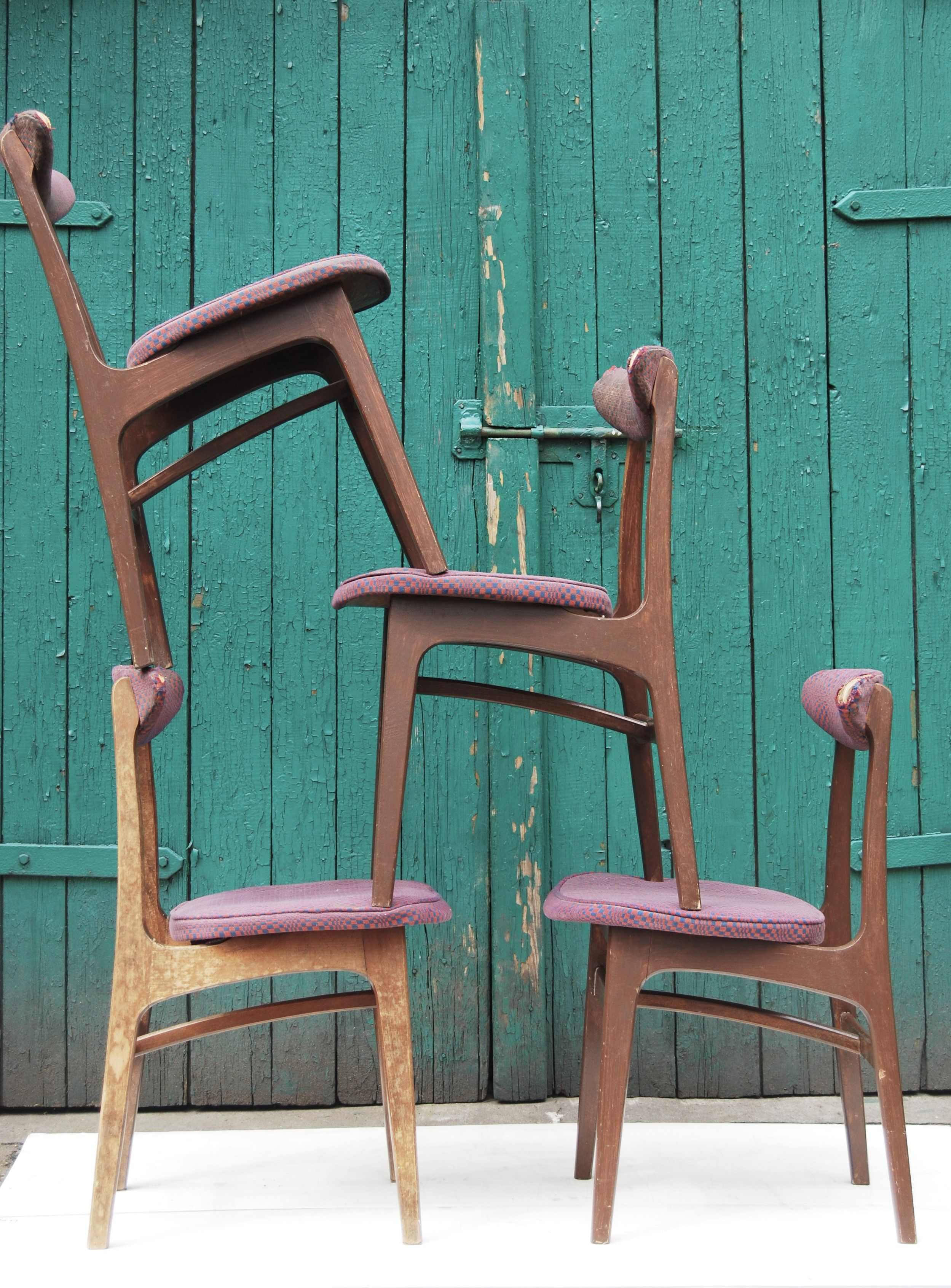 Krzesło typ 200 190 B lata 60 70 Proj Rajmund Hałas