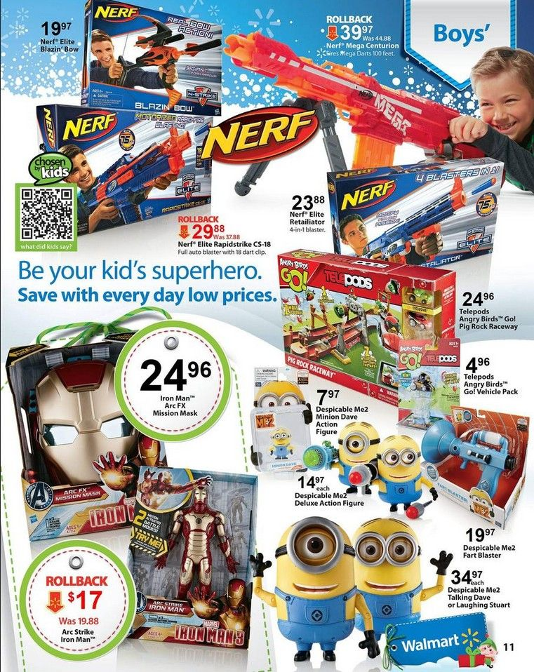walmart blackfriday 2013 #nerf guns #minions #iron mask for boys