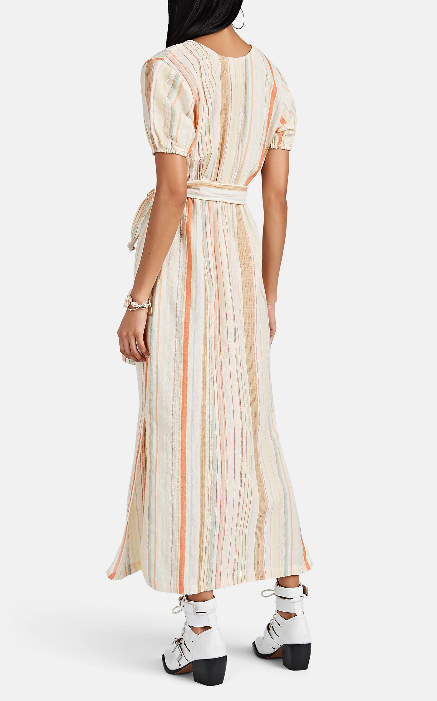 Ace Jig Georgie Striped Cotton Gauze Midi Dress Barneys New York Dresses Midi Dress Ace And Jig [ 2244 x 1400 Pixel ]