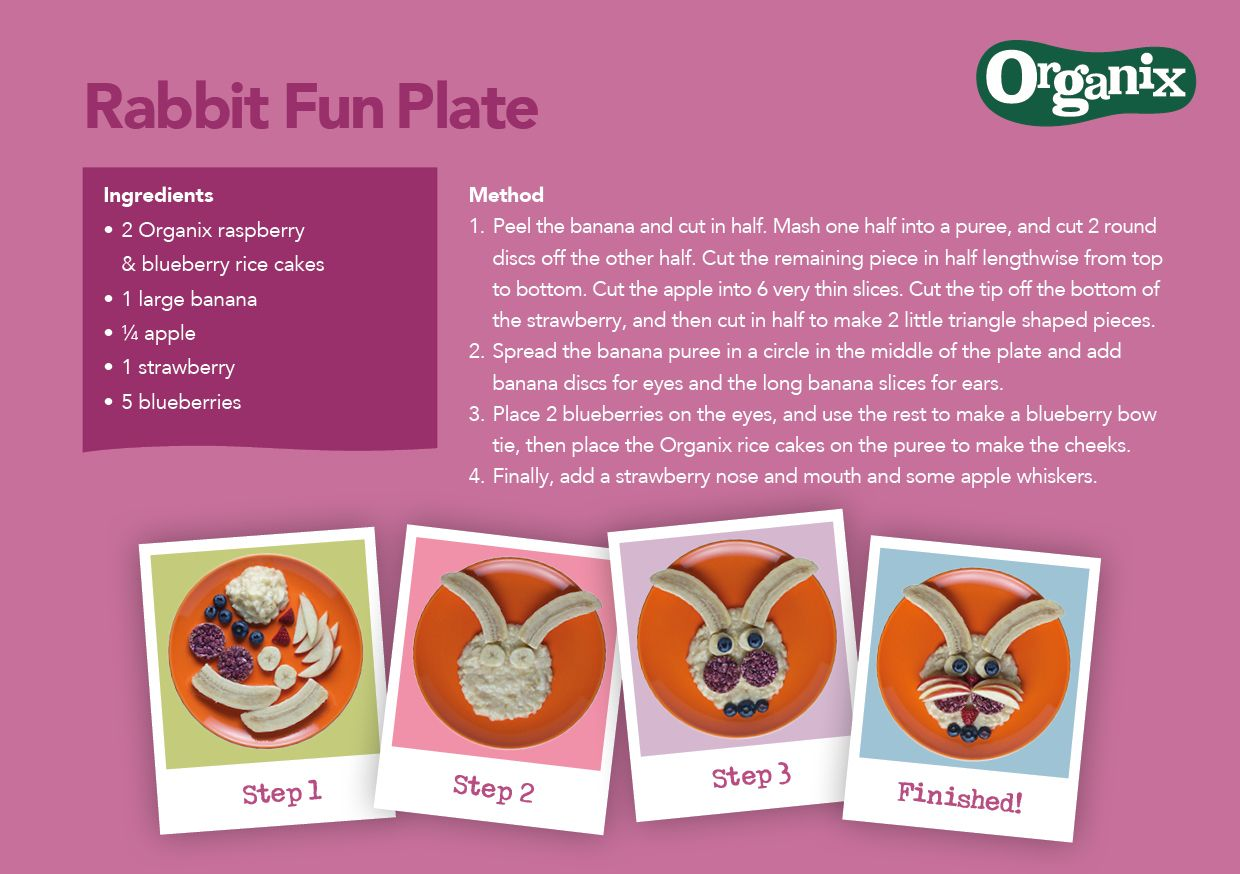 Step by step recipe to create our Organix friendly rabbit fun plate #OrganixFoodFun