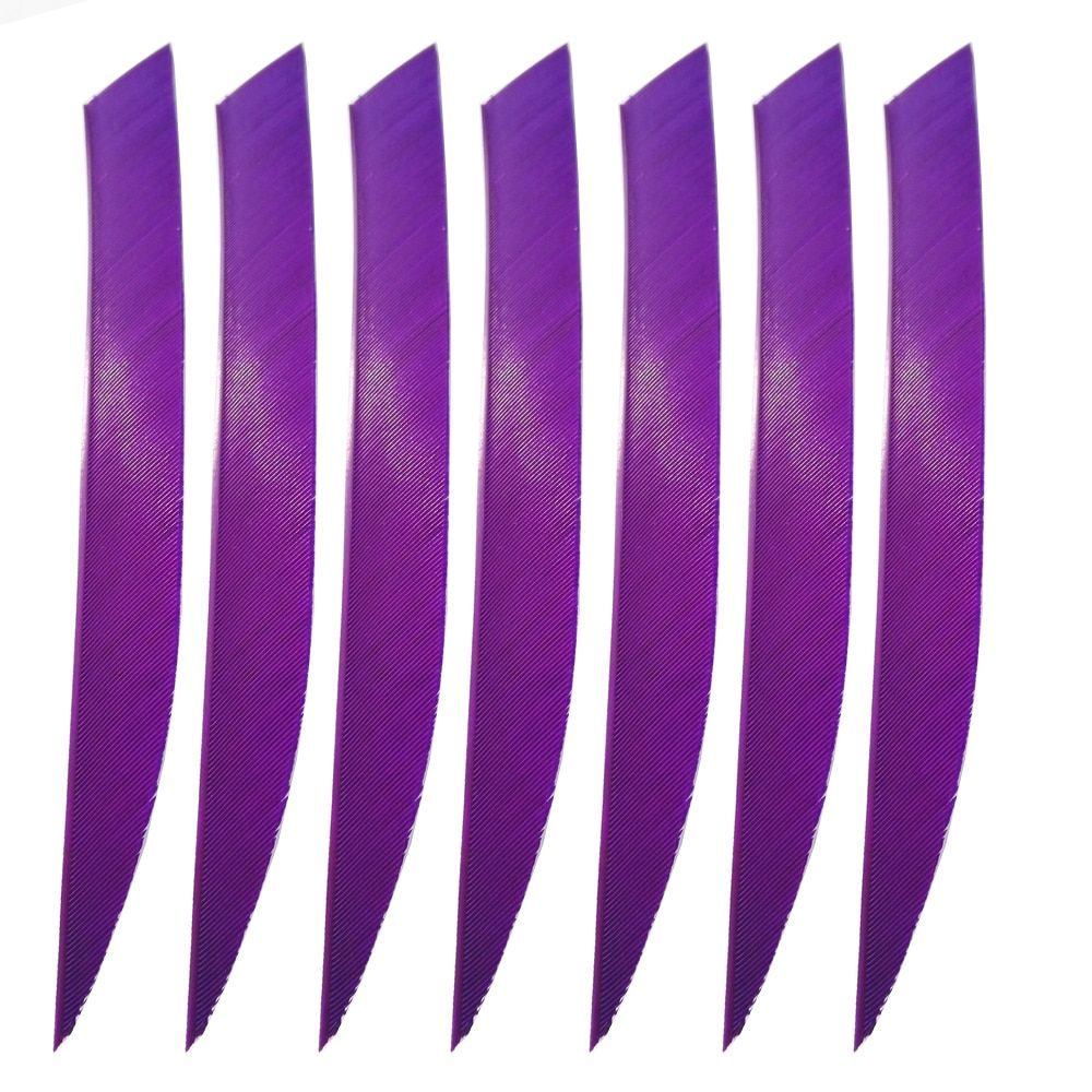 100PCS 5 Inch Turkey Feather Arrow Vanes for Shaft Bow DIY Hunting Archery