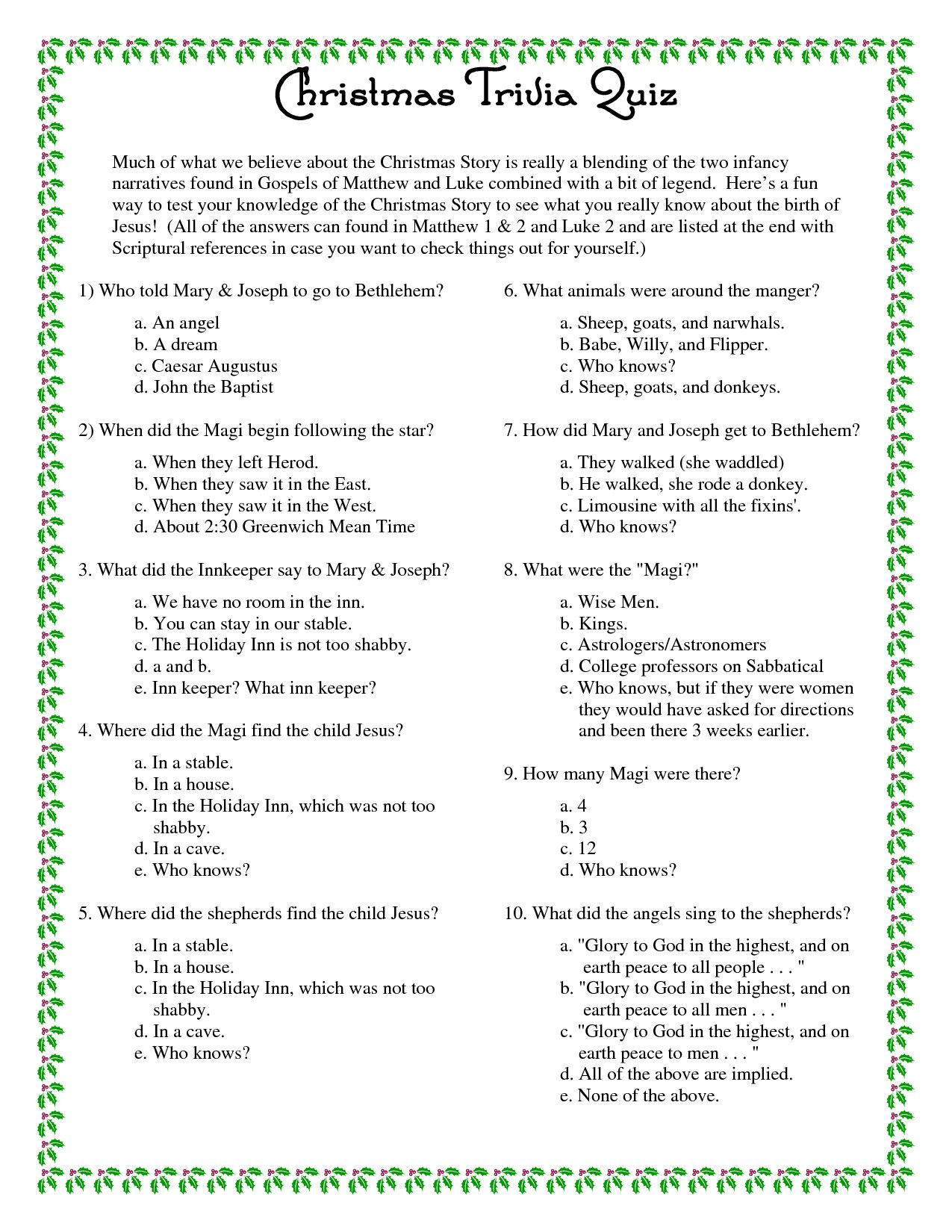 Make Much Of The Christmas This Year With Our Fun Christmas Trivia