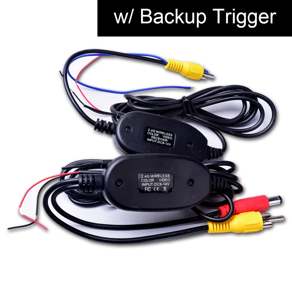 Wireless Video Cable W Backup Trigger Wire Tx Rx For Rca Rear View Camera To Gps Navi Headunit Monitor Lcd Sc Video Cable Rear View Camera Wireless Camera