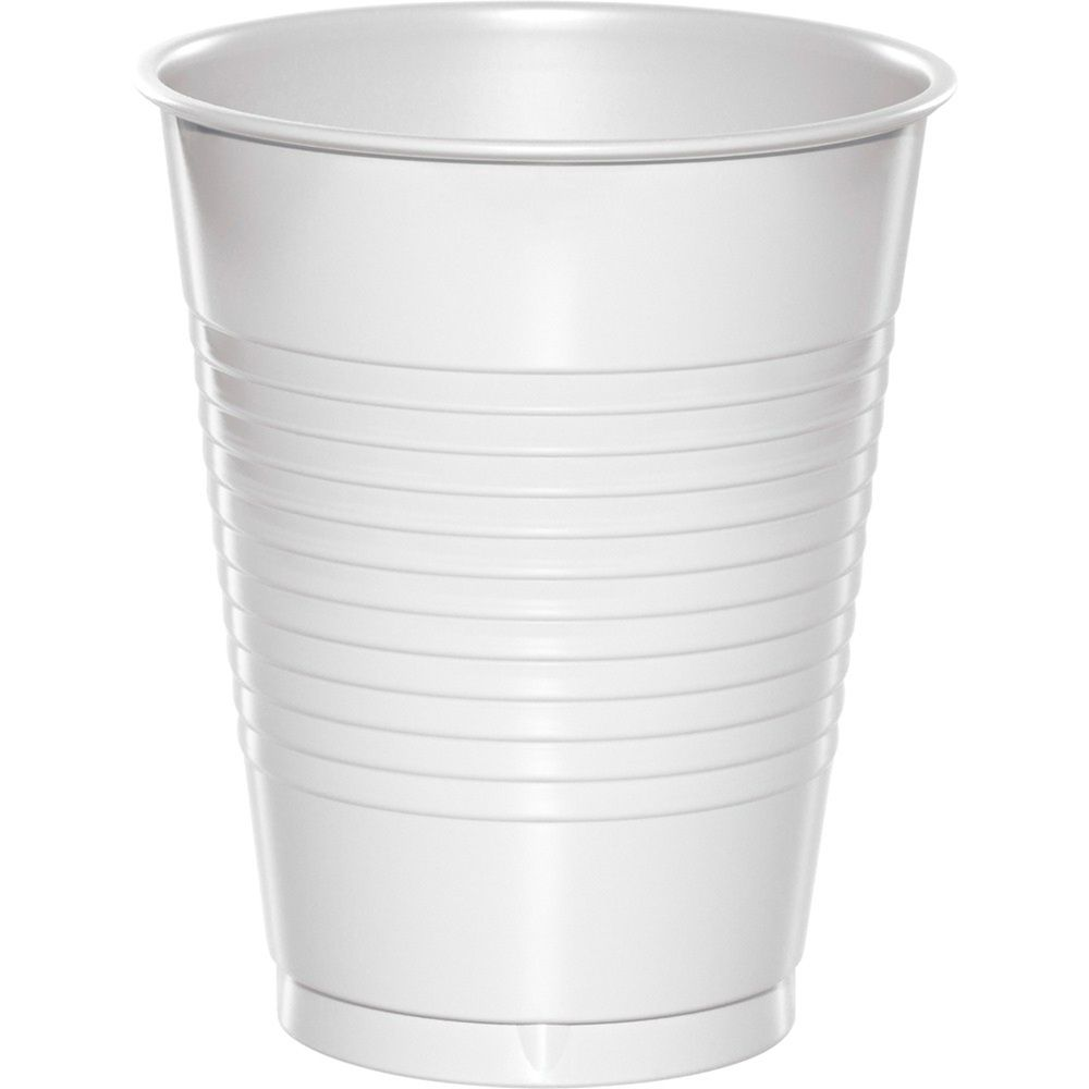 Creative Converting 28161081 Touch of Color Premium Plastic Cups Party Supplies 16oz Ivory
