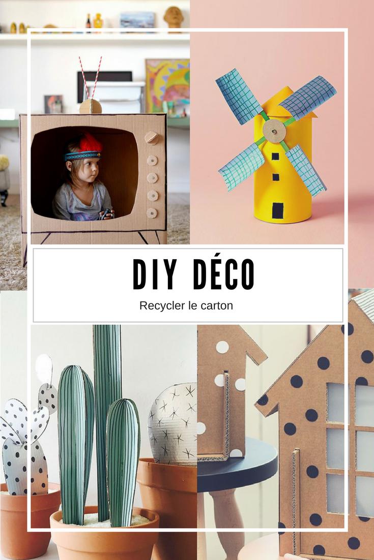 15 DIY recyclage : construire avec du carton  Deco chambre enfant