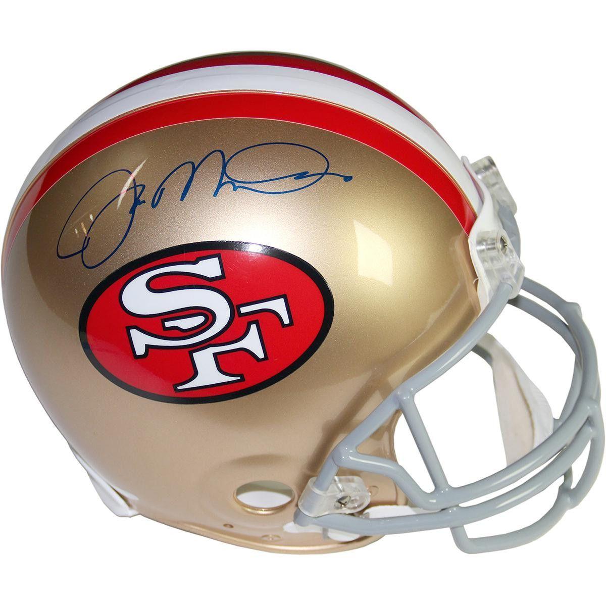 Joe Montana Signed San Francisco 49ers Authentic Helmet (Signed in Black)