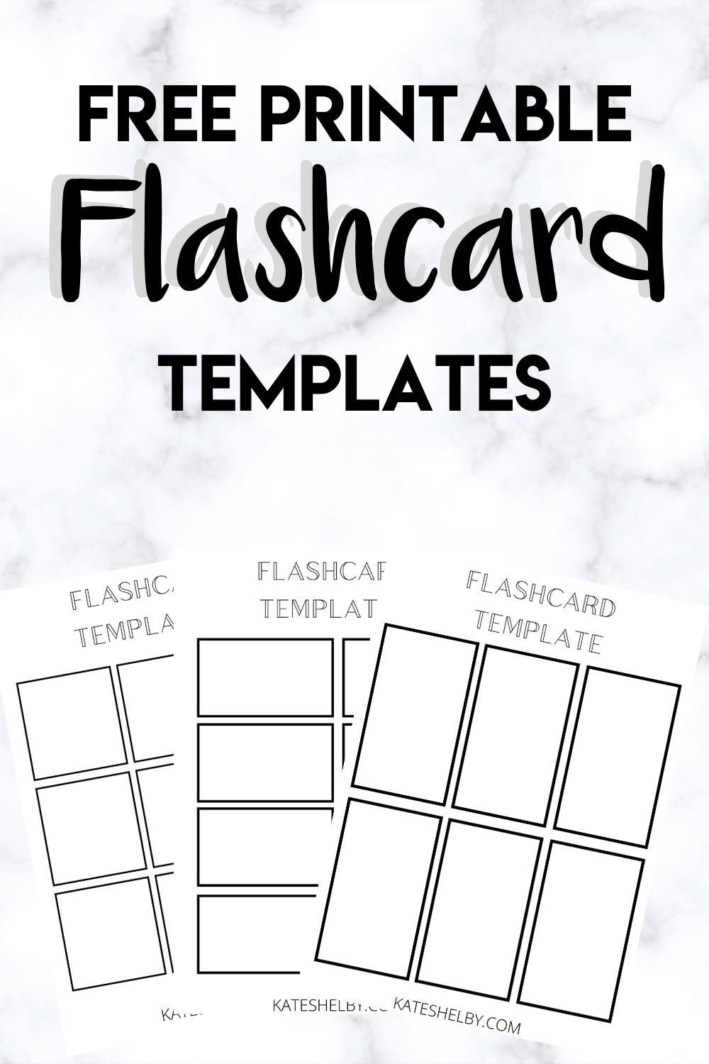 Printable Flashcard Template in 2020 (With images ...