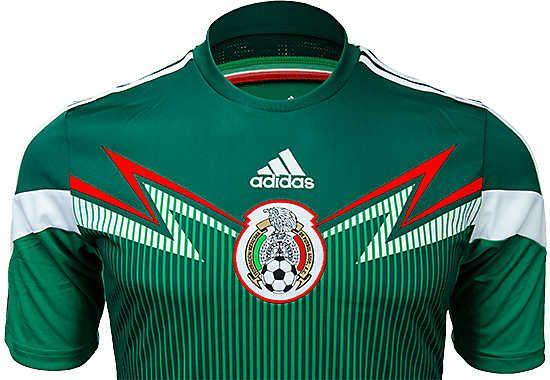 adidas Mexico Home Jersey   2014