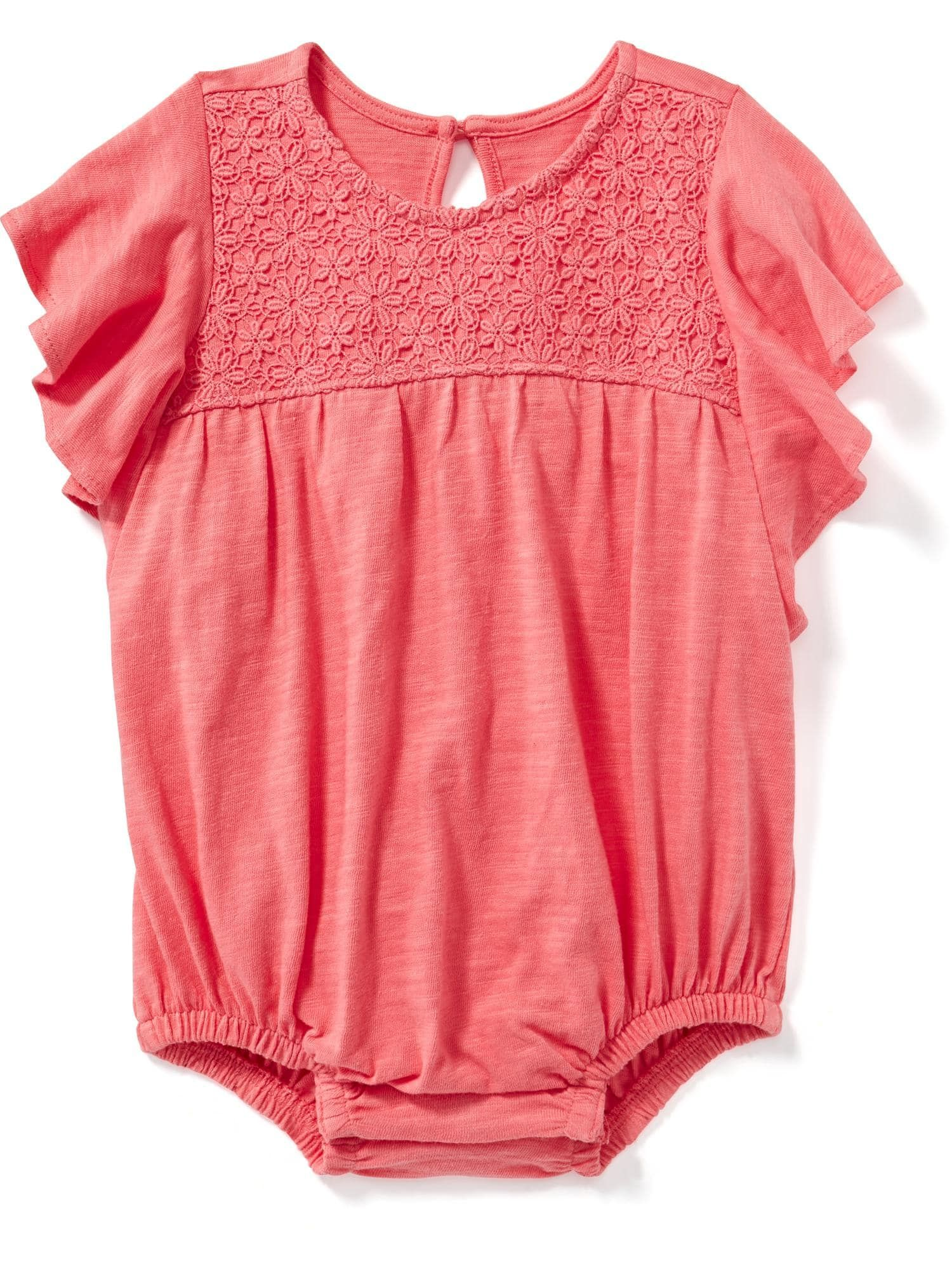 Flutter Sleeve Bubble Romper for Baby Old Navy