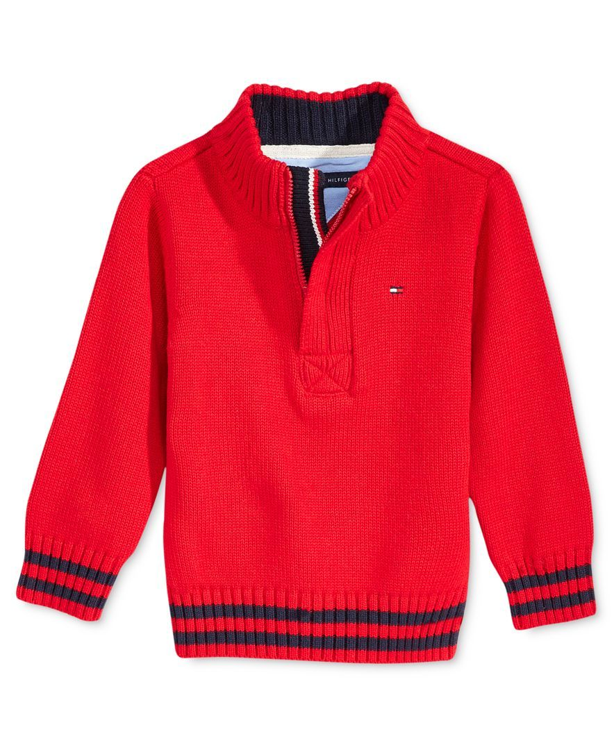 Tommy hilfiger baby boysu quarterzip sweater zip sweater tommy