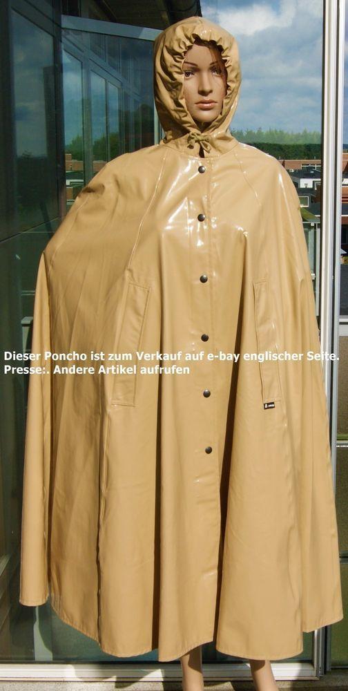 Raincape Raincoat Cloak Vinyl Pvc Rubber Coat Catsuit -5991