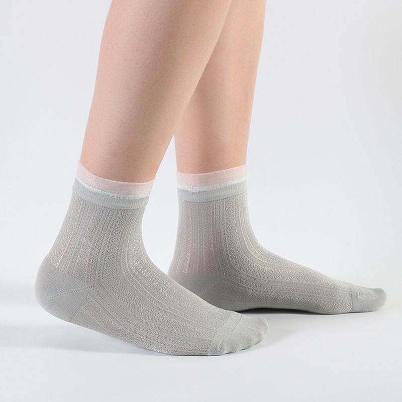 2019 Fashion 1pair Invisible Non-slip Low Cut Socks Fashion Women Casual Cotton Breathable Flamingo Ankle Boat Socks Elastic Short Hosiery Traveling Socks