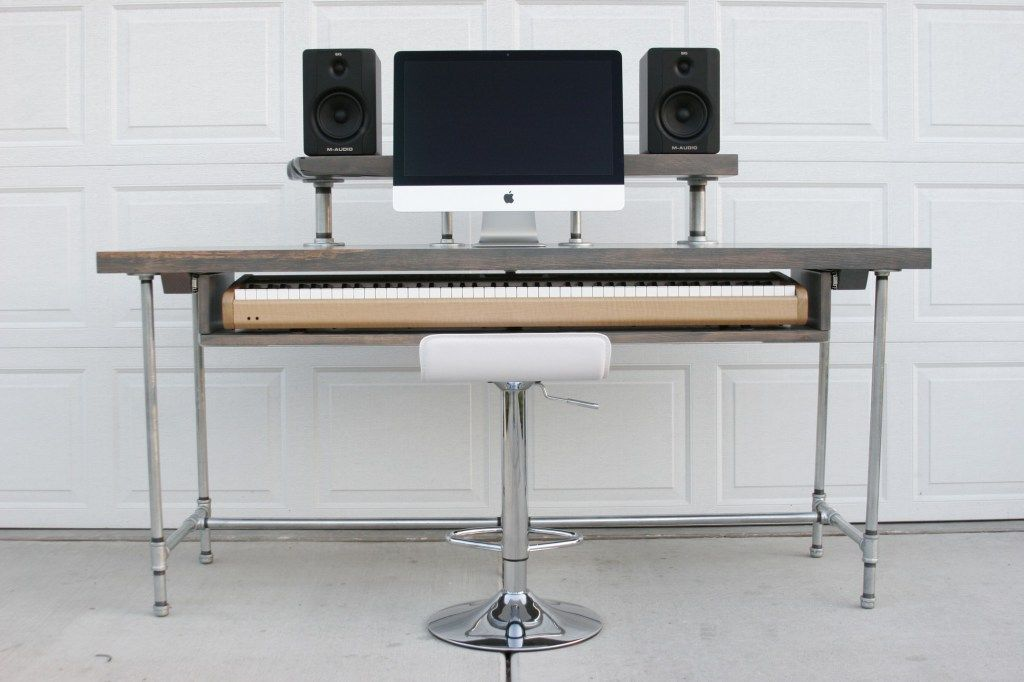 deluxe musician 39 s recording desk unfolding life furniture recording studio desk home. Black Bedroom Furniture Sets. Home Design Ideas