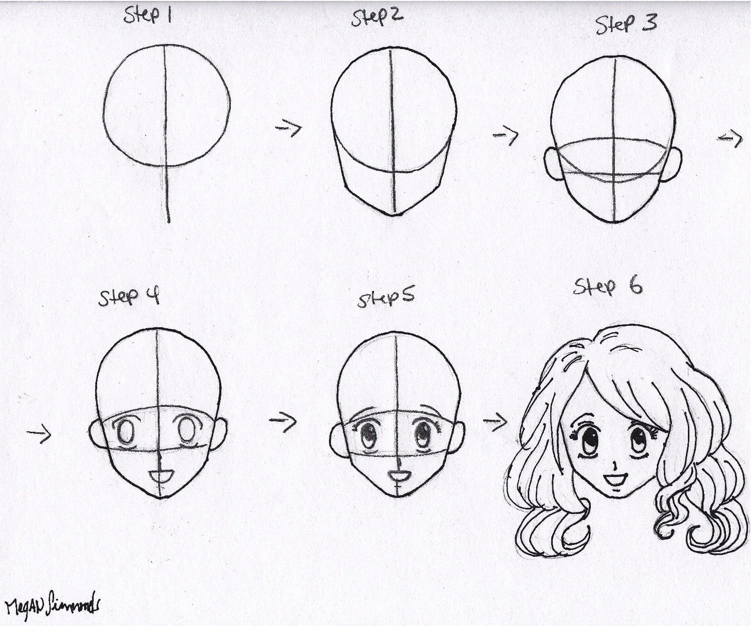 Find This Pin And More On Drawing And Painting Lessons Lets Draw  Something: Drawing Anime Face: Step