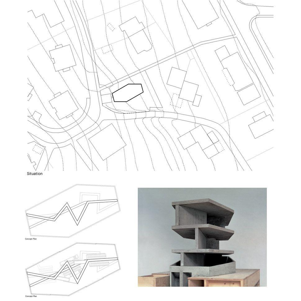 House with one wall, Zurich, Switzerland / Christian Kerez - 谷德设计网