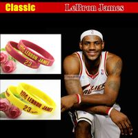 Clic For Lebron James Silicone Bracelet Sport Men White Luminous Wristband Bracelets Football