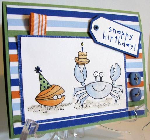LSC179 Happy Crab by ambouth - Cards and Paper Crafts at Splitcoaststampers