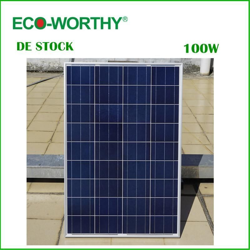 100w 18v Polycrystalline Solar Panel For 12v Battery Off Grid Solar System Homesolarsystem Solar Panels Solar Panel Cost House System