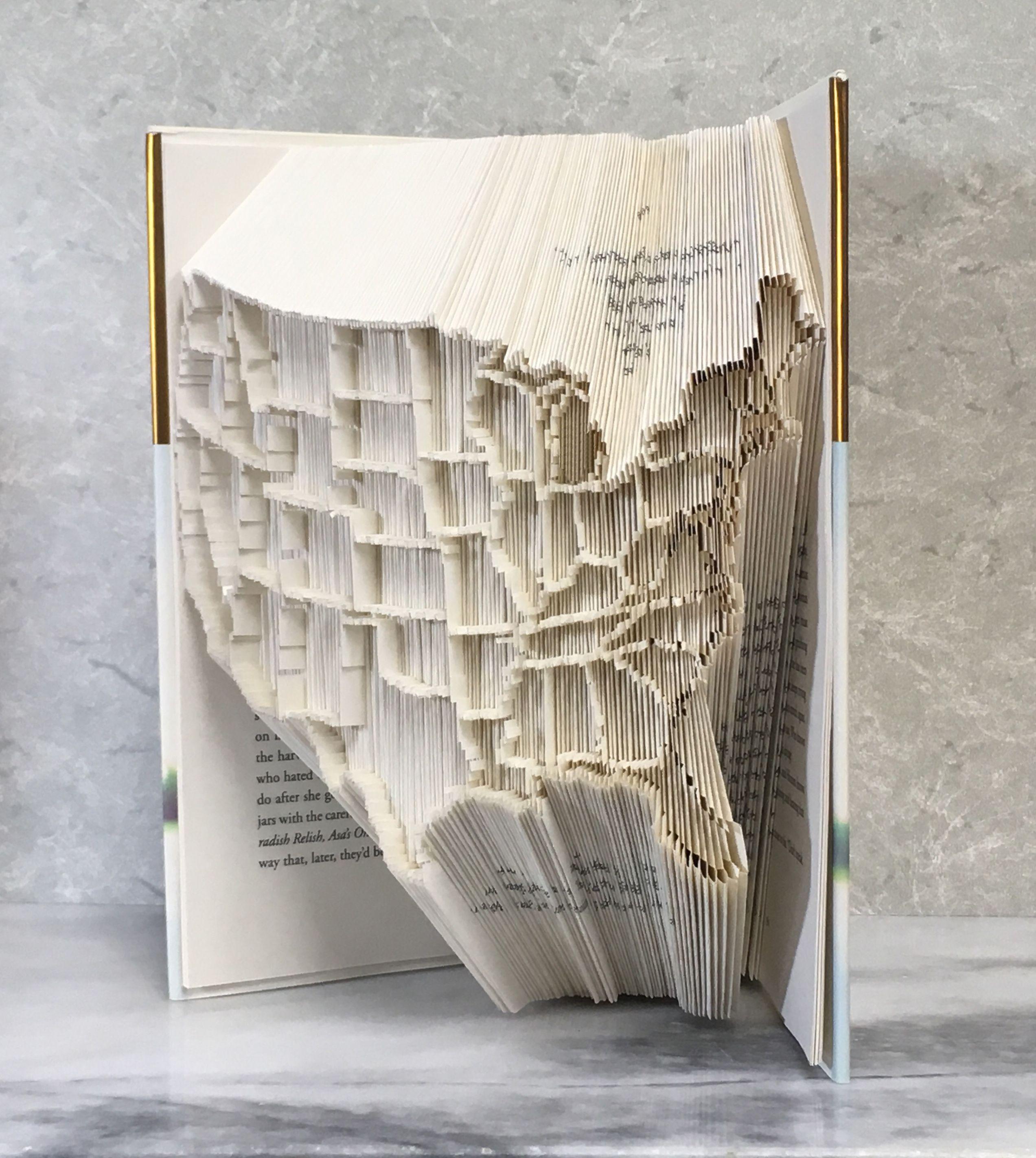 Book Folding Art bookfolding Love To Read I Love Reading Back To School Teacher Gifts Bookfolding Christmas Present For Teachers