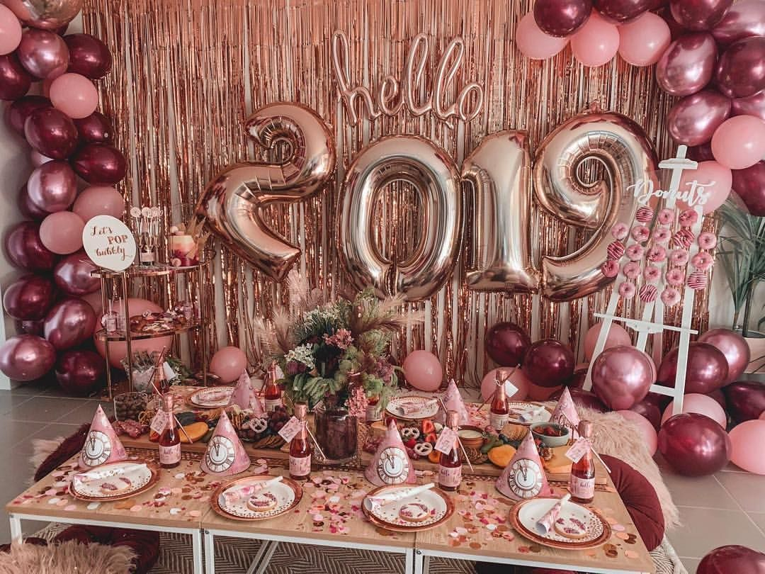 Happy New Year Everyone I Couldn T Be Happier With All The Achievements Friendships A Birthday Party Decorations Birthday Surprise Party Rose Gold Party