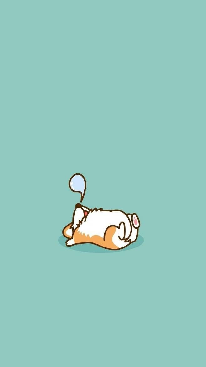 Snoozing Corgie Cute Cartoon Wallpapers Cute Wallpapers Corgi Wallpaper