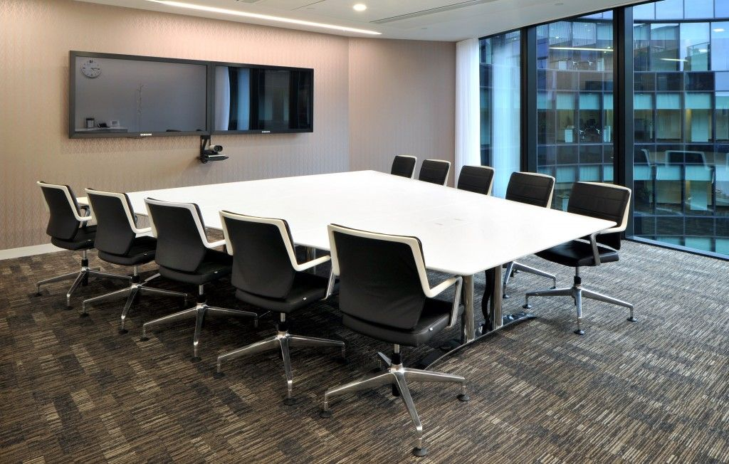 Corian Boardroom Table In Translucent Corian Fabricated For Hands - Corian conference table