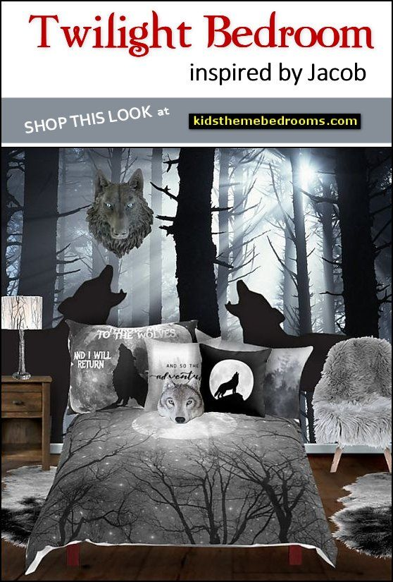 Twilight Jacob Wolf Themed Bedroom Decorating Ideas Bedroom Themes Forest Theme Bedrooms Movie Room Decor
