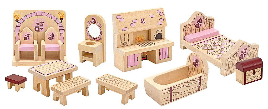 Toys At Kohlu0027s   This Melissa U0026 Doug Princess Castle Furniture Set Features  12 Pieces Of Wooden Furniture Including A Kitchen Range And Treasure Chest.