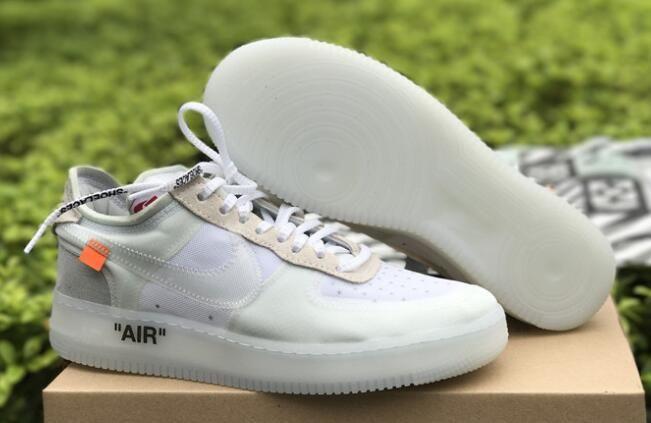 "7f18a972df9f0a Cheap OFF-WHITE x Nike Air Force 1 Low ""Ghosting"" White-Sail"
