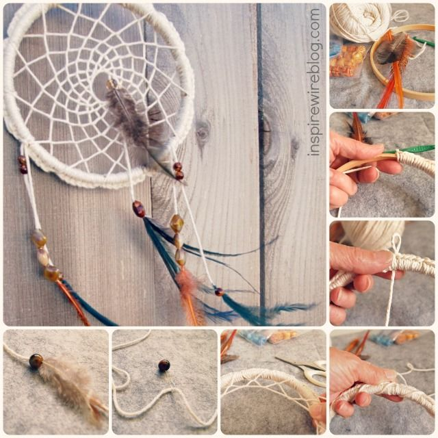 How Do Dream Catchers Catch Dreams How to Make a Dreamcatcher with Yarn Crochet Pinterest Yarns 19