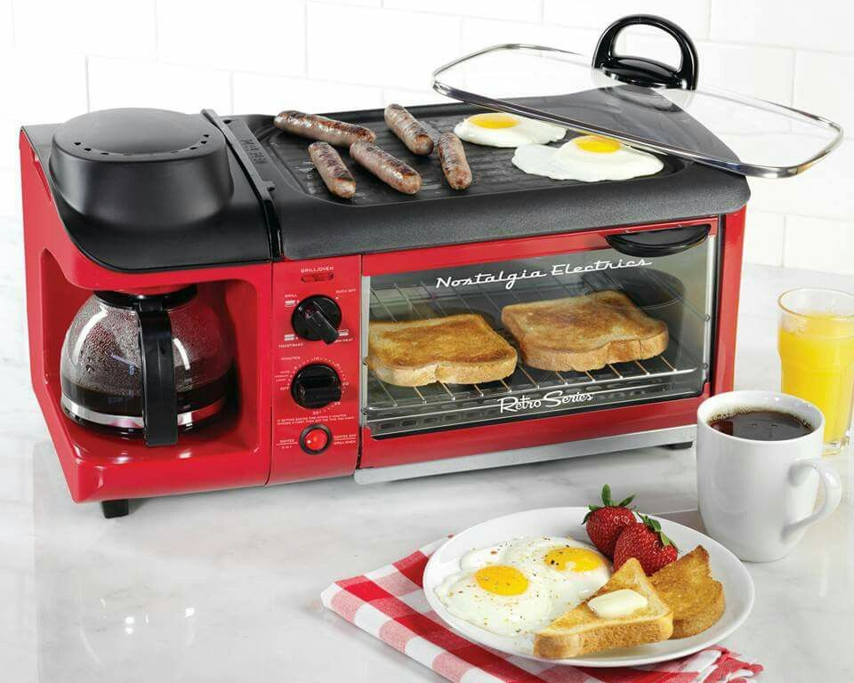 Awesome Coffee Pot Toaster Oven And Griddle Combo Perfect For Limited E