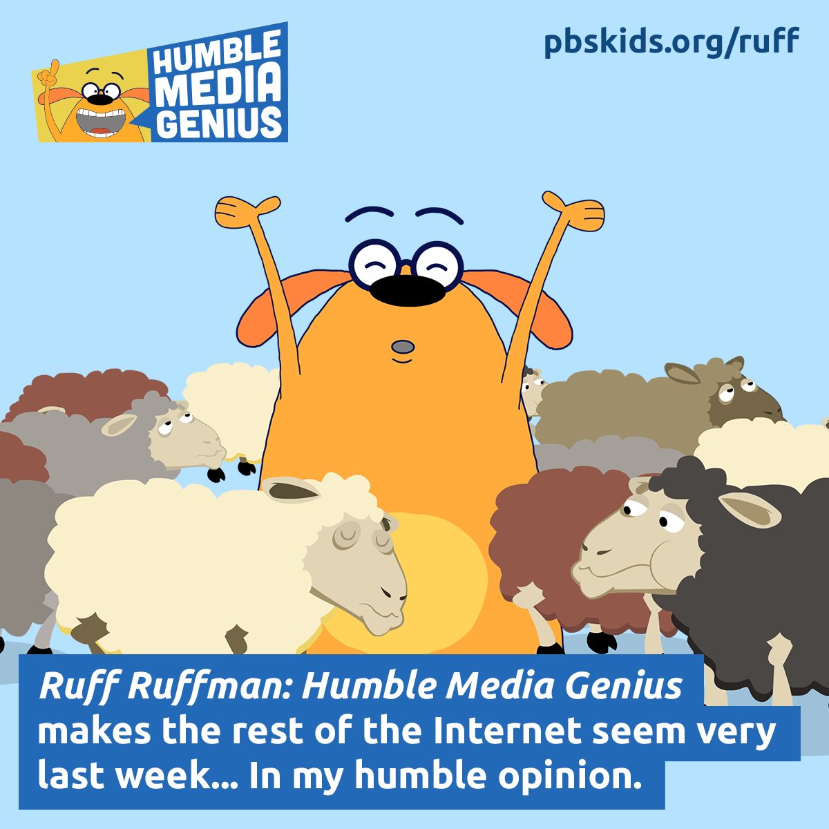 Ruff Ruffman: Humble Media Genius is a new site at PBS KIDS