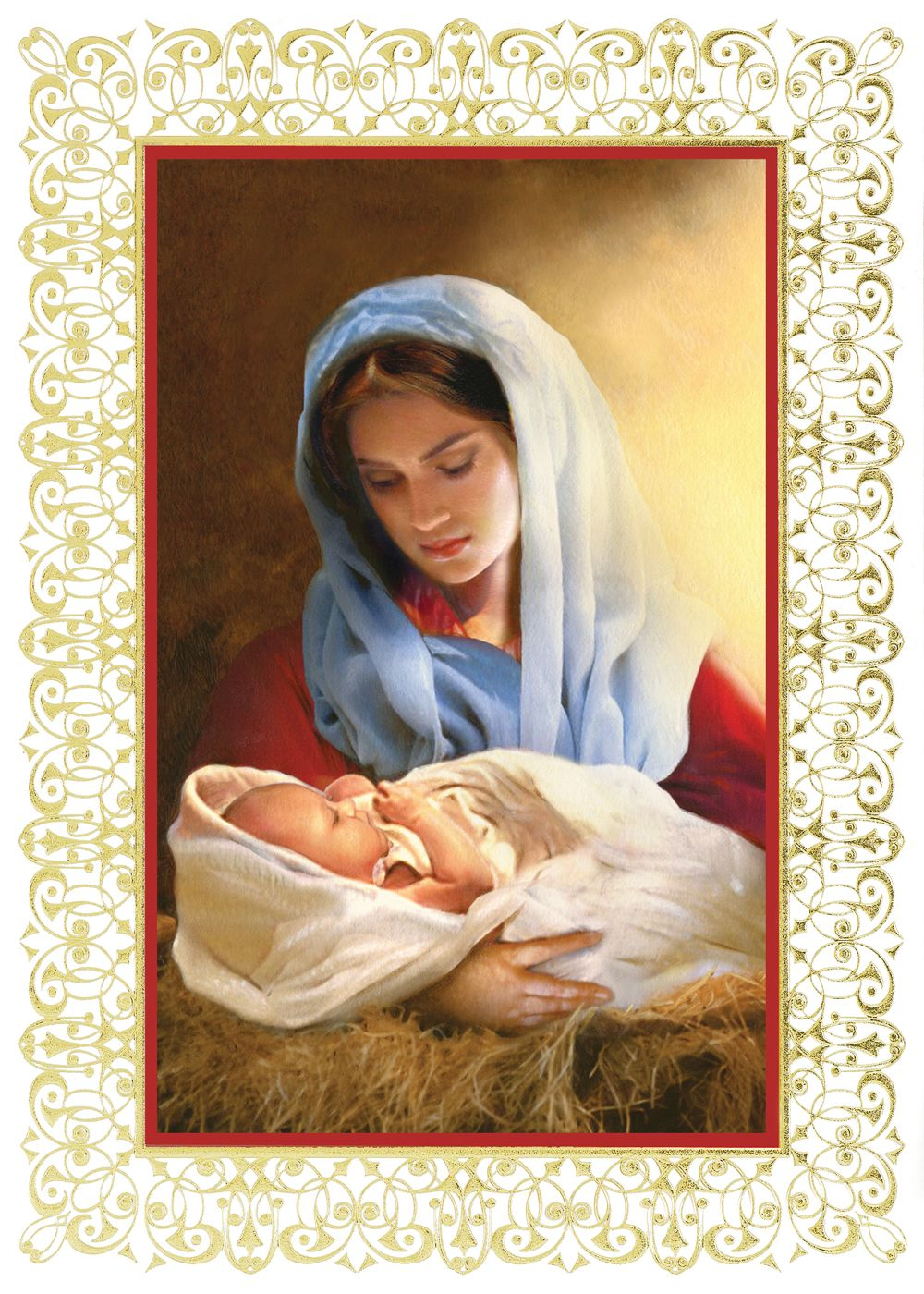 Blessed Child Holiday Greeting Cards A Portrait Of Madonna And